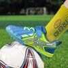 Kids Soccer Sneakers Stylish Comfortable Blue Football Sport Shoes Anti Skid Children Footwear Size 29-39
