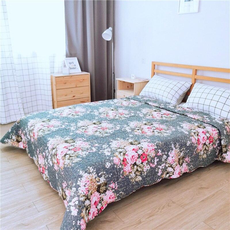 Nouveauté imprimé Floral été couette couvertures Patchwork couette couvre-lit couvre-lit grand tapis Tatami tapis bébé ramper tapis