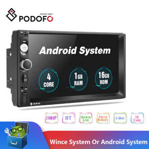 Podofo Multimedia-Player Autoradio Android Ford 2din Volkswagen 2GB 32GB 7''gps-Map No-Dvd