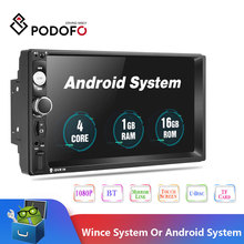 2019 Newest Podofo Android 2 Din Car Radio Multimedia Player 2GB+ROM 32GB 7GPS MAP No Dvd 2din Autoradio For Ford Volkswagen