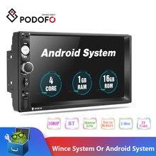 2019 أحدث Podofo أندرويد 2 الدين راديو السيارة مشغل وسائط متعددة 2GB + ROM 32GB 7GPS خريطة لا Dvd 2din Autoradio لفورد فولكس فاجن