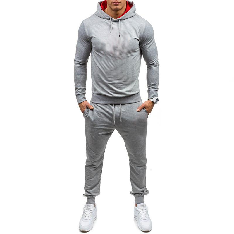 Casual Tracksuit Set Men Fashion 2020 Jogger 2Sports Sportswear Suits Spring Autumn Two Pieces Hoodies Pants Set Male Sweat Suit