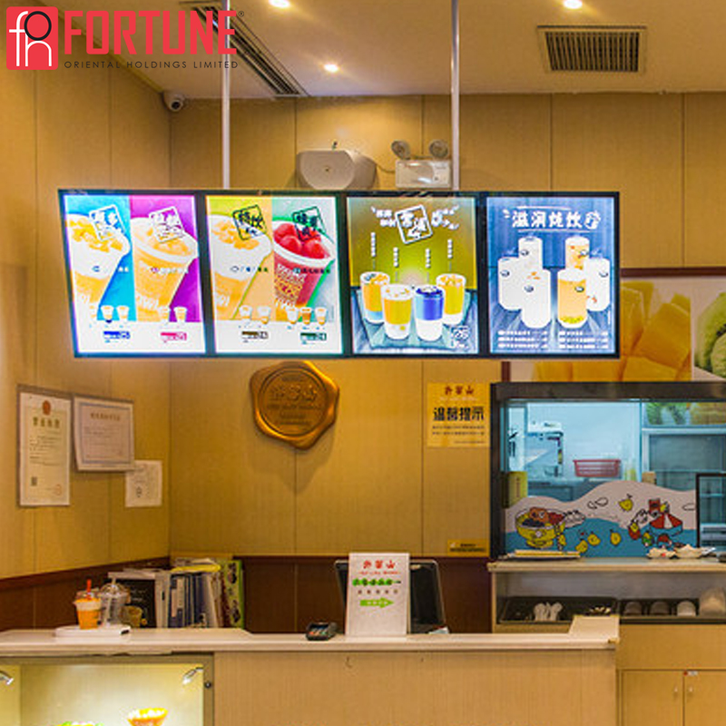 Illumination Sign Board LED Poster Frame Advertising Light Boxes Indoor Menu Board For Restaurant Ultra-thin LED Light Box