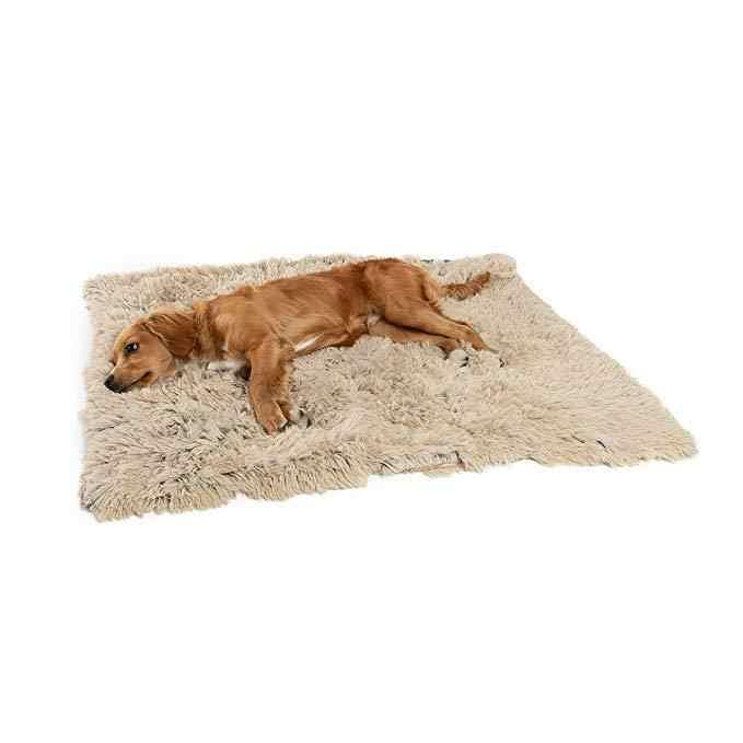 Longues couvertures de chien en peluche double tapis de lit de chat pour animaux de compagnie moelleux
