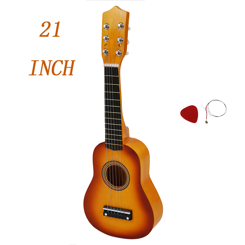 21 Inch Hawaii Ukulele Mini Guitar  Acoustic Ukulele + Plectron Small And Easy To Carry 100% Brand New And High Quality