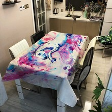 Multicolor Horse Marriage Tablecloths Ancient Tablecloth Rectangular Home Garden Wedding Decoration Table Cloth Country Tapestry