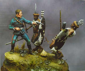 Image 1 - 1/32 54mm alte Schlacht Offizier umfassen 3 stand Harz abbildung Modell kits Miniatur gk Unassembly Unlackiert