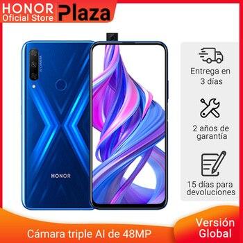 Перейти на Алиэкспресс и купить В наличии глобальная версия Honor 9X 4 Гб 128 Гб Смартфон 48 МП AI Тройная камера 6,59 'мобильный телефон гуглинг play мобильный телефон