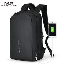 مارك رايدن حقيبة ظهر للرجال متعددة الوظائف مزودة بوصلة USB يمكن إعادة شحنها مناسبة للابتوب 15.6 بوصة حقائب ظهر غير رسمية للرجال