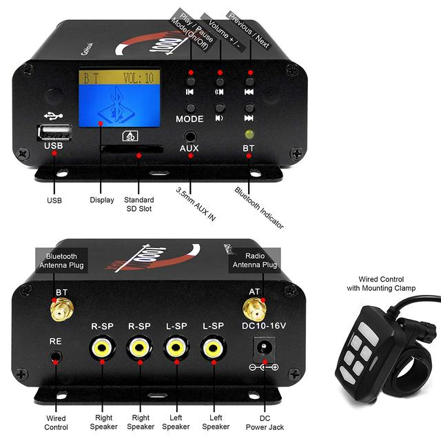 Motorcycle Audio 4 Channel Amplifier System 5
