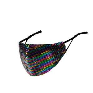Image 4 - Nieuwe Shiny Rhinestone Kwastje Masker Decoratie Gezicht Accessoires Cover Gezicht Sieraden Voor Vrouwen Bruiloft Nachtclub Decoratie