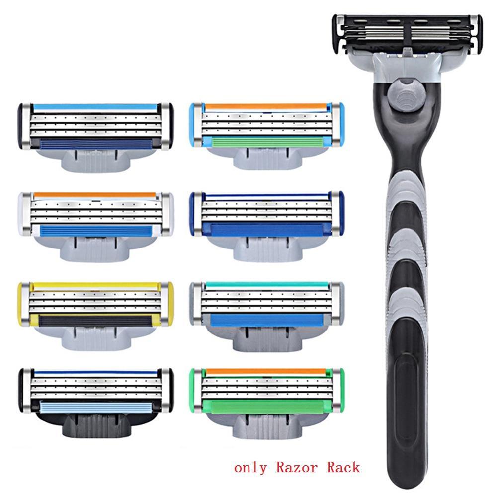 1pc Men Plastic Antislip Face Shaving Razor Handle For Shaving & Hair Removal Replaceable Razor Rack Shaver Holder Supplies