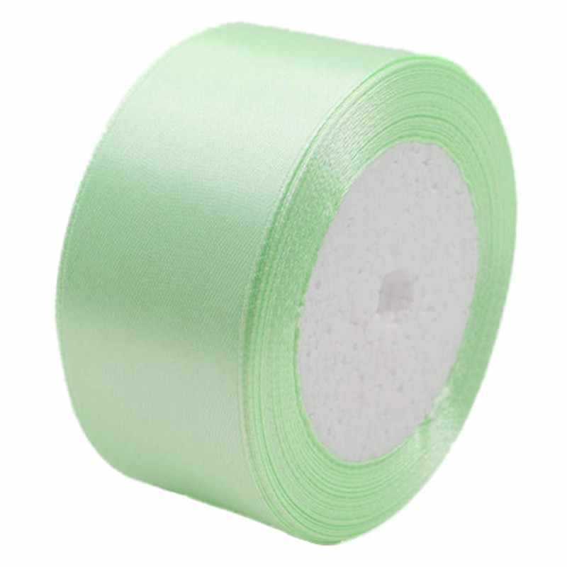 Promotion! 1 roll 40mm 22 Meters silk satin ribbon for wedding party(light green)