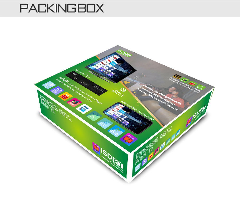 Digital Terrestrial ISDB-T TV Tuner Receiver Set-Top Box Fully HD 1080P H.264 USB Decoder for Brazil Chile Peru 12 -