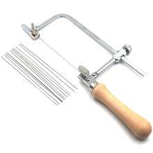Профессиональный Регулируемый бантик для пилы деревянная ручка
