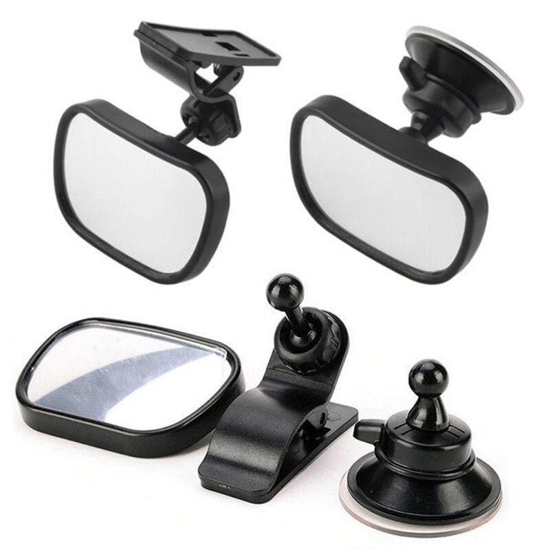 Автомобильное Зеркало детское заднее сиденье, безопасное зеркало заднего вида для безопасности детей, зажим и крепление на присоске, внутреннее зеркало заднего вида Комнатные зеркала      АлиЭкспресс