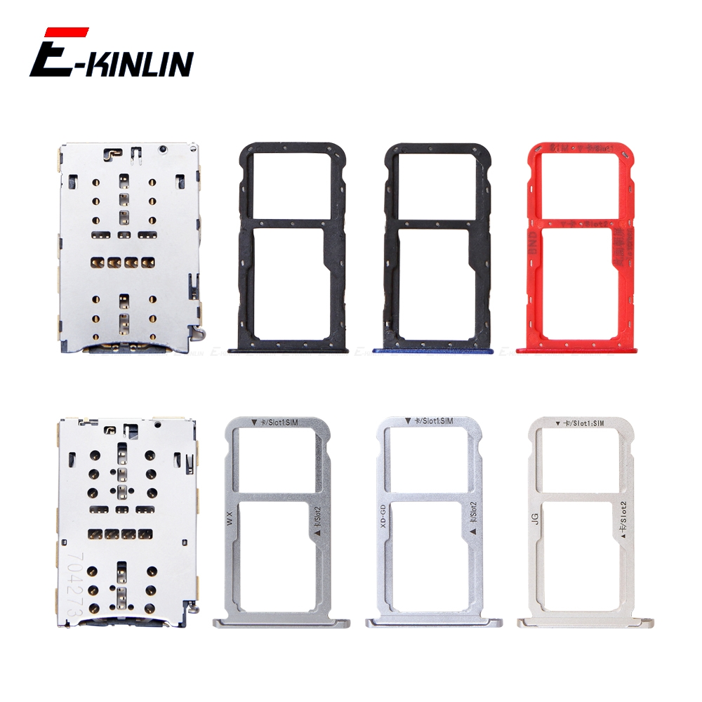 Sim Micro SD Card Socket Holder Slot Tray Reader For HuaWei Honor 7X 7S GR5 2017 Adapter Container Connector Replacement Parts