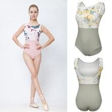 Pembe baskı bale dans mayoları kadınlar 2020 yeni varış yaz jimnastik dans kostüm yetişkin yüksek kaliteli bale Leotard