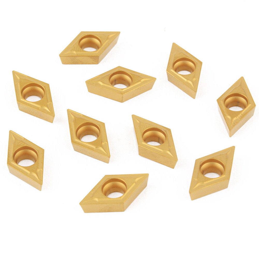 10pcs Carbide Professional Inserts For Lathe Tool Turning Holder Blades DCMT11T304-HM YBC251 Best Nice