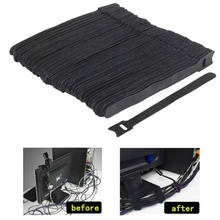 цена на 12*150 mm 50 pcs Factory direct T-type Velcro cable tie wire storage cable computer data cable power cable tie wire