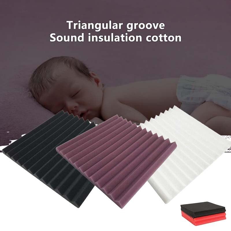 300*300*25mm Soundproofing Foam Acoustic Foam Sound Treatment Studio Room Absorption Wedge Tiles Foam Home Decoration Convenient