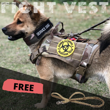 Dog-Harness for Large Medium MOLLE Vest Tactical-Vest Bungee Service Training Military
