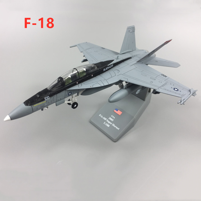 19CM 1/100 Scale F18 F-18 F/A-18 Boeing Hornet Multirole Fighter USA Army Air Force Diecast  Plane Model Collection Gift