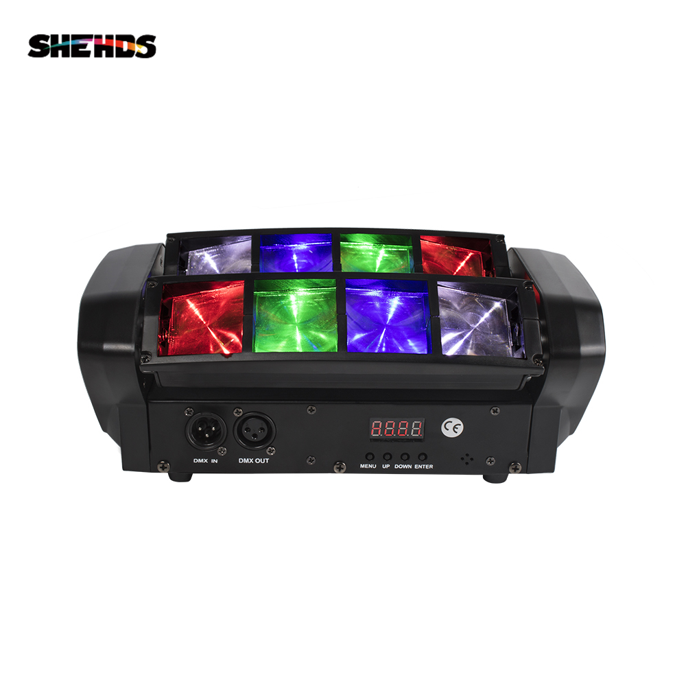 Free Shipping RGBW Mini LED Spider Beam Light LED 8x6W Bar Beam Moving Head Beam LED Spider Light RGBW Good For DJ Disco Party
