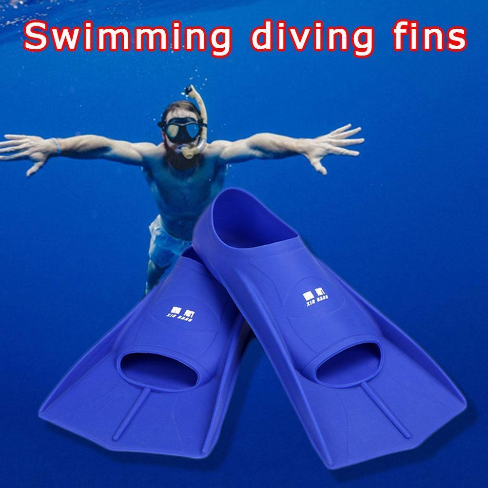 Professional Swimming Fins Silicone Scuba Diving Fins Shoes Snorkel Equipment Men Set Kids Women Anti-slip Flippers Short S C5X3