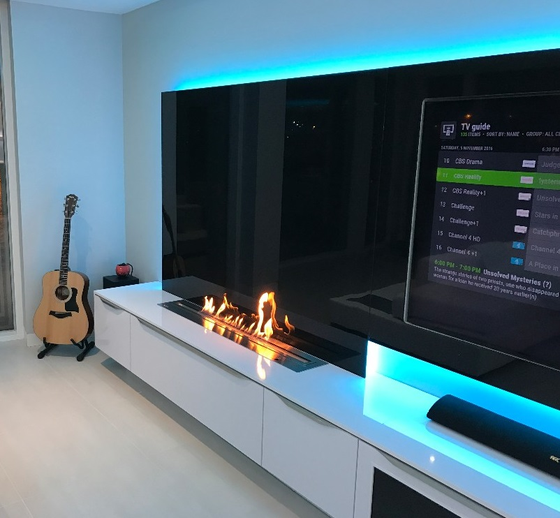 Hot Sale 72 Inches Bioethanol Fires Linear Burner Insert Smart Control Fireplace