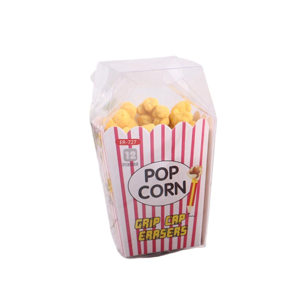 1pack Cute Creative Cartoon Popcorn Boxed Eraser Can School Stationery Girl Gift On Toy Kids A Supplies Be Pencil Placed Ka I3S8