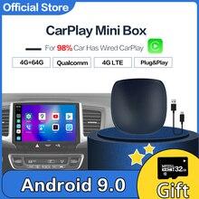 Carplay Mini Android Box Wireless Carplay Ai Box Car Multimedia-Player UX999 4 + 64G navigazione Audio per Volkswagen Kia Toyota