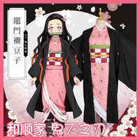 Japan Anime Dämon Slayer: kimetsu keine Yaiba Kamado Nezuko Cosplay Kostüm Uniform Set Frauen Halloween Comic-con Outfit kimono