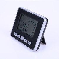Medidor de nível eletrônico do tanque água ultrassônico sensor temperatura indicador de profundidade líquida tempo alarme transmissor ferramentas medição|Instrumentos de temperatura| |  -