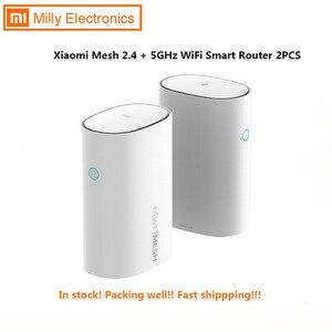 2 шт. Xiaomi Mi роутер с сеткой WiFi 2,4 + 5 ГГц WiFi роутер высокоскоростной 4-ядерный процессор 256 Мб гигабитная мощность 4 сигнала Усилители для умного ...