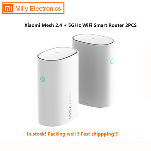 2 Pcs Xiaomi Mi Router Mesh Wifi 2.4 + 5 Ghz Wifi Router Hoge Snelheid 4 Core Cpu 256 Mb gigabit Power 4 Signaal Versterkers Voor Smart Home