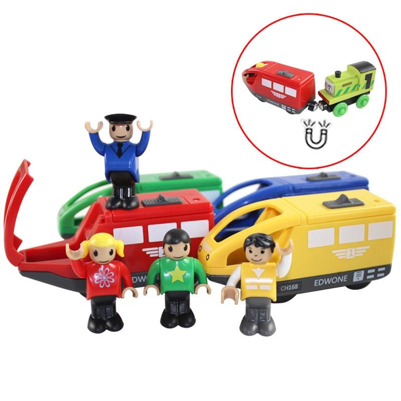 RC Brinquedos Trem Elétrico Trem Magnético Brinquedo Transporte Competiable para Brio Padrão De Madeira Trilho de Trem Ferroviário Brinquedos para As Crianças
