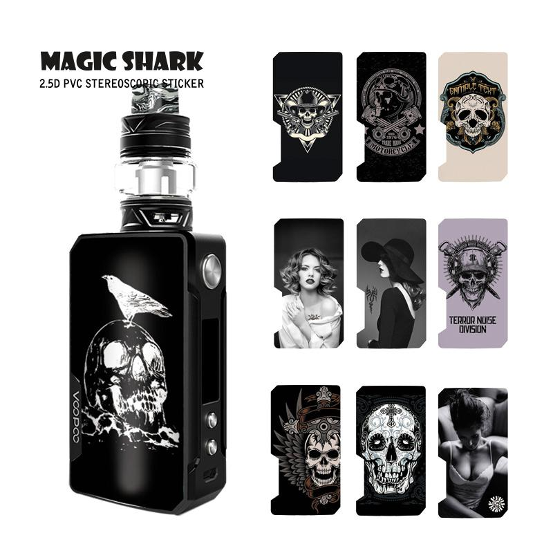 Magic Shark Stylish Vintage Sexy Woman Skull E Cigarette Waterproof Vape Case Cover Sticker Film For Voopoo Drag 2 II