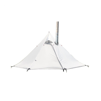 Ultralight Camping Teepee Tent 3-4 Person Pyramid Tent Portable Shelter Tourist Backpacking Stove Tent Awnings Chimney Output