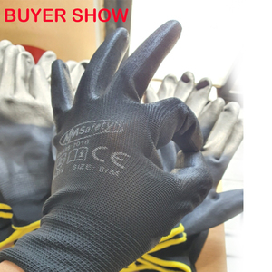 Image 5 - NMSAFETY 13 Gauge Knitted Safety Work Gloves Construction Security Garden Rubber Glove Industrial Working Gloves