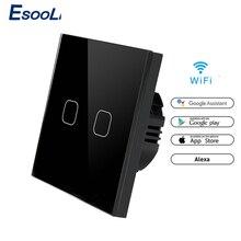 EsooLi 86 סוג מגע מתג חכם אור מתג wifi אור מתג APP אלחוטי מרחוק האיחוד האירופי סטנדרטי עבודה עם Alexa Google בית