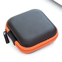 Mini Zipper Hard Headphone Case PU Leather Earphone Wire Storage Bag Protective Cable Organizer Portable Earbuds Pouch Box цена и фото