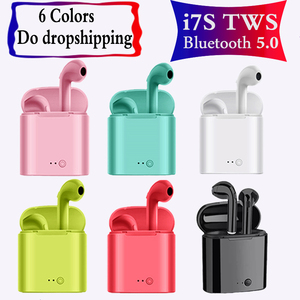 5PCS/Lot In ear New colorful i7s TWS Bluetooth Headphones Pink Blue Wireless hearphone Earbuds for iphone Samsung huawei xiaomi