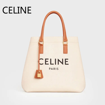 цена CELINE Cabas Handbag Canvas Calfskin Two Handles Leather Inner Zipped Pocket Female Shoulder Bags 192162BNZ.02NT онлайн в 2017 году