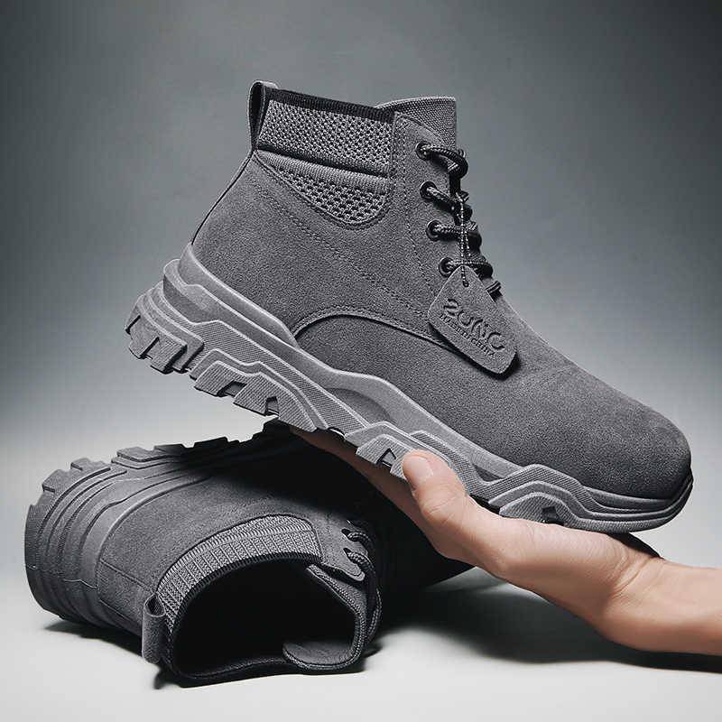 VastWave erkekler çöl taktik askeri botlar Mens iş güvenliği ayakkabıları ordu savaş botları Militares Tacticos Zapatos erkek ayakkabısı botları