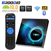 2020 3D Smart Tv Box Android 10 T95 2,4g 5g Wifi Bluetooth 32gb 128g Stimme 6k Stimme AssistantQuad Core Set-Top-Box Media Player