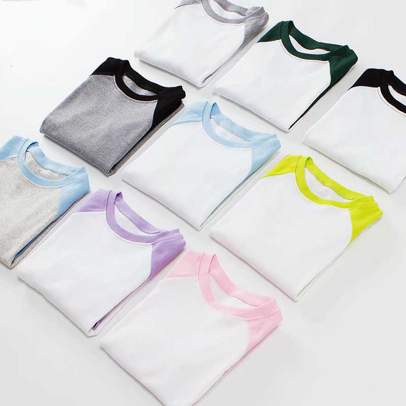Vêtements classiques femmes t shirt Patchwork Tee-shirt camisetas femininas ropa mujer contraste manches Raglan hauts
