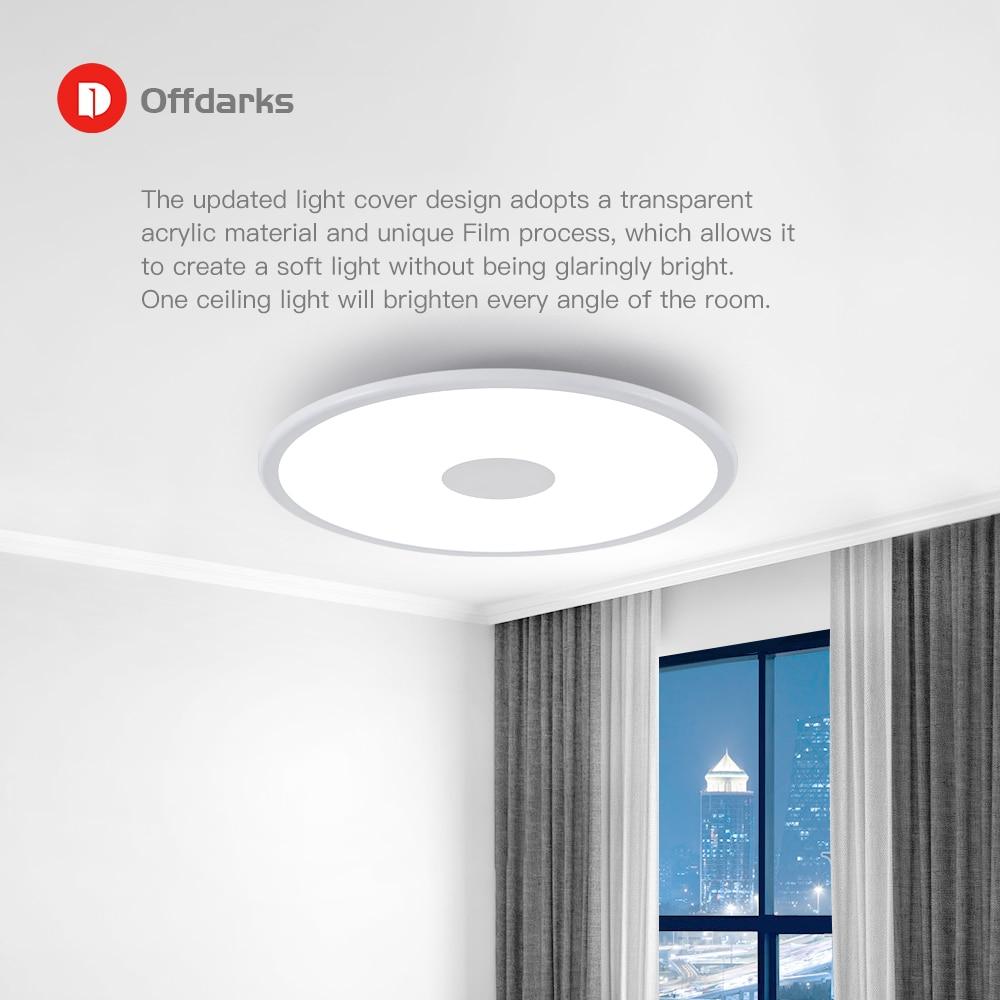 Lumière de plafond moderne à LEDs rvb gradation bluetooth haut parleur 36W APP contrôle salon chambre intelligente plafonnier 90 265V - 5