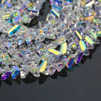 Top quality Super shiny 4/6/8/10mm faceted triangle glass beads Austria crystal beads Loose Spacer beads for Jewelry making DIY