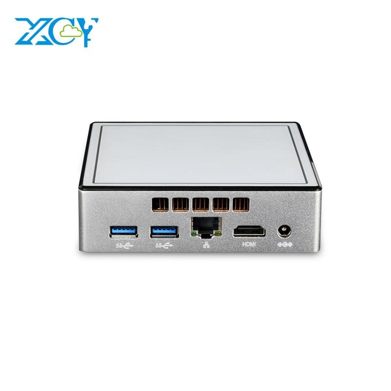 XCY Mini PC Windows 10 Core I7 I5-4200U 4200Y I3-4010Y Micro Computer HDMI WiFi Desktop Celeron 2955U Office Household PC HTPC